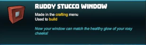Ruddy Stucco Window