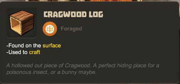 Cragwood Log