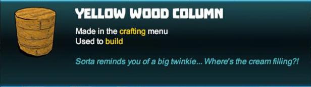 Yellow Wood Column