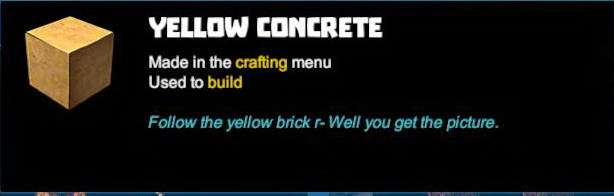 Yellow Concrete