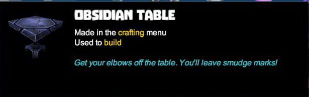 Obsidian Table