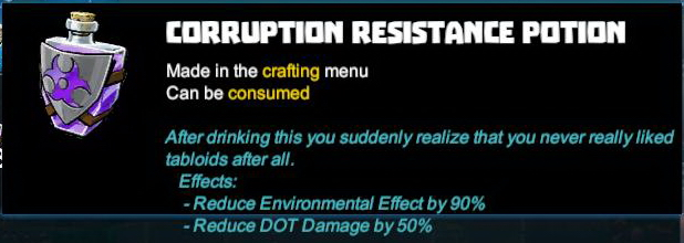 Corruption Resistance Potion