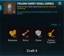 Creativerse yellow candy skull candle crafting recipe 2017-11-01 20-57-30-80.jpg