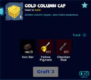 Gold column cap craft