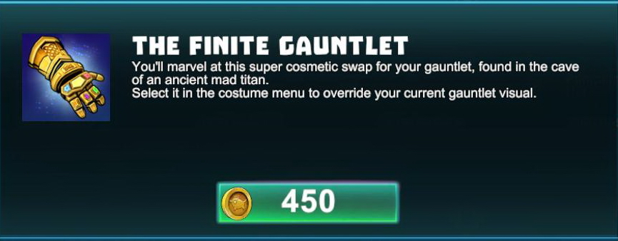 Finite Gauntlet