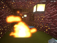 Creativerse Leaves, Shredded Leaves, Thatched Wall burning01.jpg