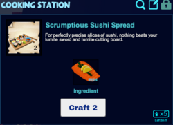 Scrumptious sushi cooking station.png