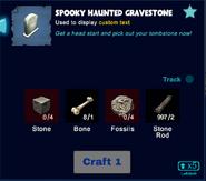 Spooky haunted gravestone craft