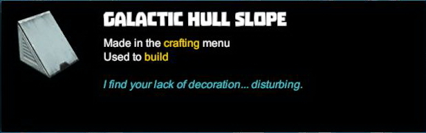 Galactic Hull Slope
