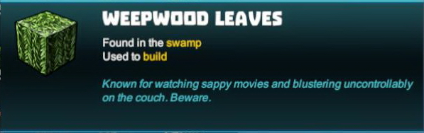 Weepwood Leaves