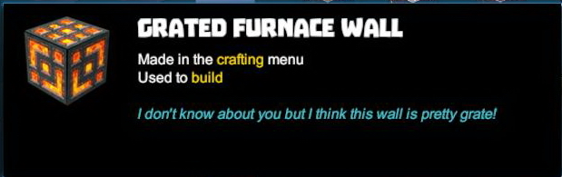Grated Furnace Wall