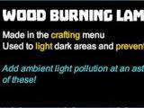 Wood Burning Lamp