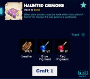 Haunted grimoire craft