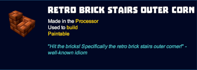 Retro Brick Stairs Outer Corner
