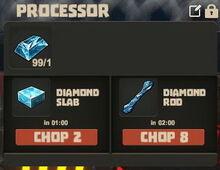 Creativerse Diamond ore to slab and rod01.jpg