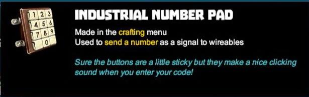 Industrial Number Pad