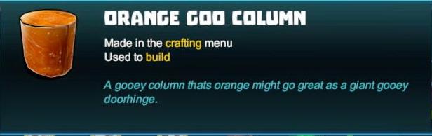 Orange Goo Column