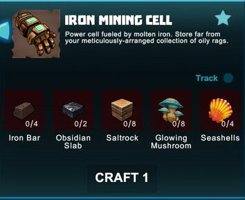 Creativerse R41 crafting recipes iron mining cell01.jpg