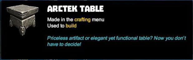 Arctek Table