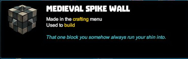 Medieval Spike Wall