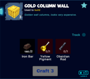 Gold column wall craft