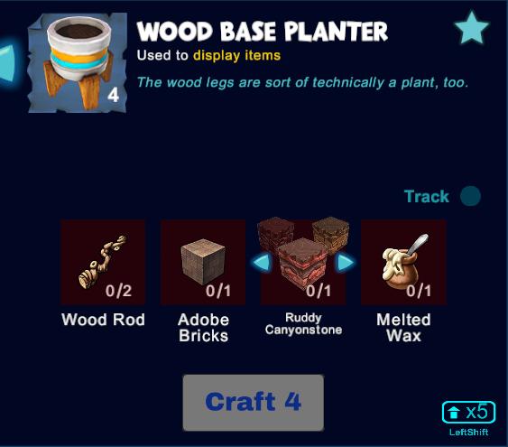 Wood Base Planter