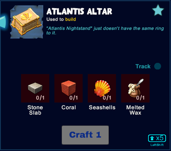 Atlantis Altar