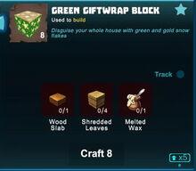 Creativerse Green Giftwrap Block crafting 2018-12-21 00-21-07-38.jpg
