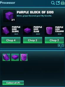Creativerse processing purple block of goo 2018-12-21 18-26-16-49.jpg
