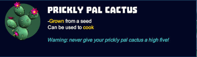 Prickly Pal Cactus