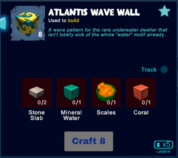 Atlantis Wave Wall