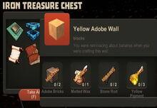 Creativerse Yellow Adobe Wall Iron Treasure Chest 2014-12-16.jpg