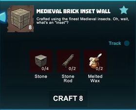 Creativerse R41 crafting recipes colossal castle medieval brick inset wall01.jpg