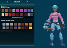 Creativerse ugly leafi turtleneck sweater and arms pink-white 2018-12-21 00-25-36-86.jpg