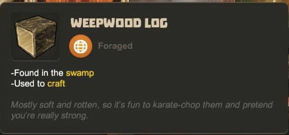 Weepwood Log