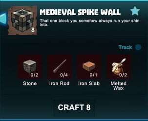 Creativerse R41 crafting recipes colossal castle medieval spike wall01.jpg