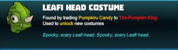 Leafi Head Costume