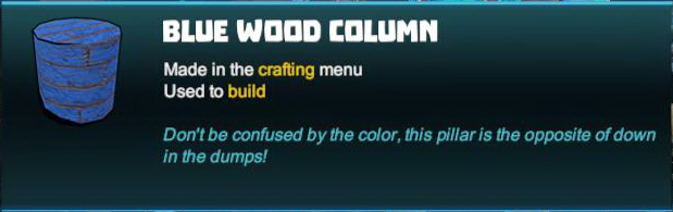 Blue Wood Column