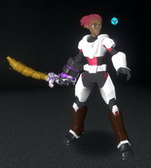 Creativerse Master creator red and white pink hair brown shoes 2018-08-22 21-36-48-31 5 basic armor costume sets.jpg