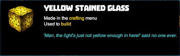 Yellow Stained Glass