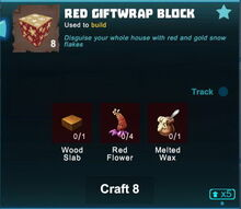 Creativerse Red Giftwrap Block crafting 2018-12-20 20-55-39-50.jpg