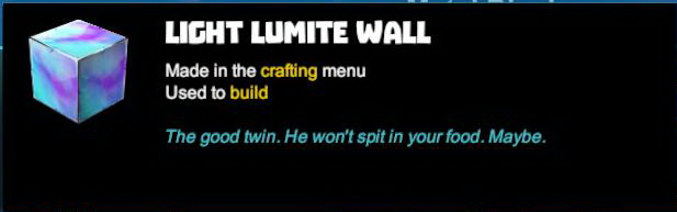Light Lumite Wall