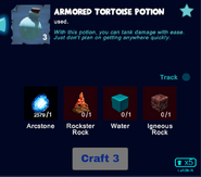 Armored tortoise potion craft