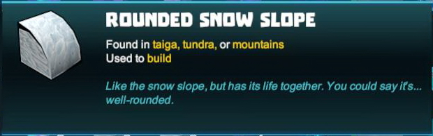 Rounded Snow Slope