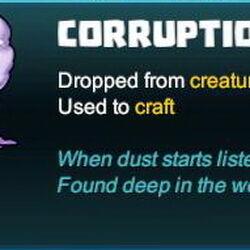 Corruption Dust