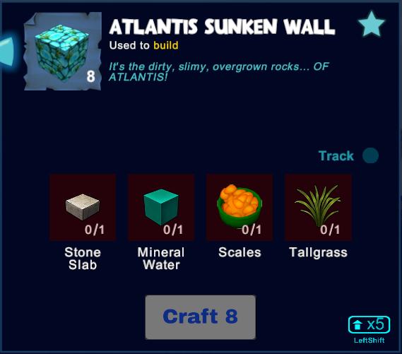Atlantis Sunken Wall