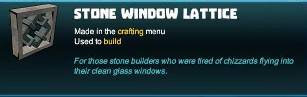 Stone Window Lattice