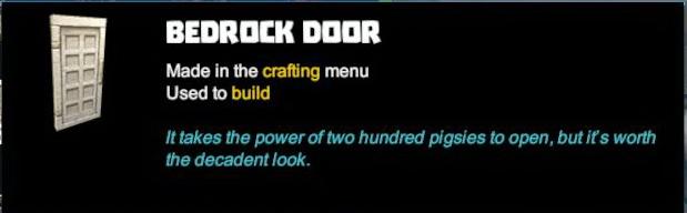 Bedrock Door