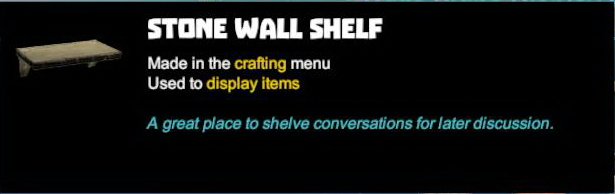 Stone Wall Shelf