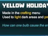 Yellow Holiday Light